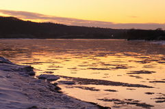 Schlamm im Neris Fluss Lizenzfreies Stockbild