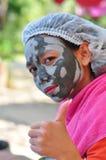 Schlamm-Maske Stockfoto