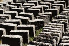 Schlamm und Straw Adobe Bricks Drying Peru Südamerika Lizenzfreies Stockfoto