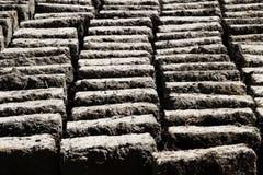 Schlamm und Straw Adobe Bricks Drying Peru Südamerika Stockfotografie