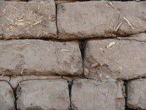 Schlamm- und Strohziegelsteindetail Stockbild