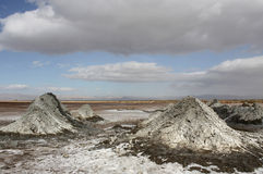 Schlamm-Vulkane in dem Salton Meer Lizenzfreie Stockfotografie