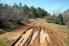 Schlammbahn des Traktors Stockbild