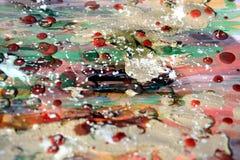Schlammige Aquarellfarben, Stellen, abstrakter Hintergrund Lizenzfreie Stockfotografie