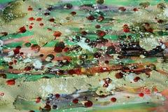 Schlammige Malerei und Wachs, abstrakter Hintergrund und Beschaffenheit Stockbilder