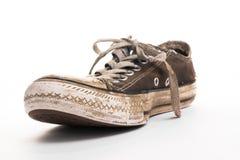 Schlammiger alter Schuh Lizenzfreie Stockfotos