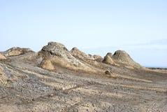 Schlammvulkane in Gobustan, Aserbaidschan stockfotografie