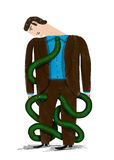 Schlange-Binden Sie Stockbild