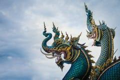 Schlange am buddhistischen Tempel in Chiang Rai Lizenzfreies Stockbild