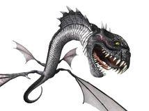 Schlange Dragon Attacking Lizenzfreies Stockfoto