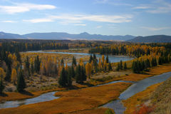 Schlange-Fluss-Herbst Stockfotografie