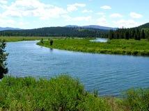 Schlange-Fluss, Oxbow Schlaufe Lizenzfreie Stockbilder