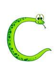 Schlange in Form von dem Zeichen C Stockbilder
