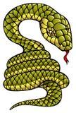 Schlange, Symbol des kommenden Jahres Stockbild