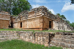 Schlange-Tempel in Labna stockfotos