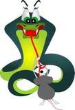 Schlange und Maus Stockfotografie