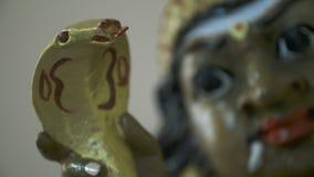 Schlange und Shiva Face stock video
