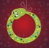 Schlangegeschenk-Kartenhintergrund des neuen Jahres Stockbild