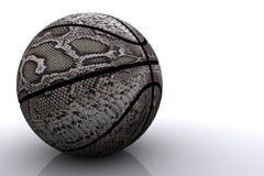 Schlangehautbasketball getrennt stockbild