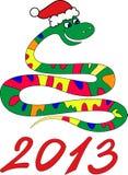 Schlangejahr lizenzfreie abbildung