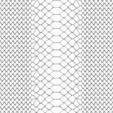 Schlangen-Haut-nahtloses Schwarzweiss-Muster stock abbildung