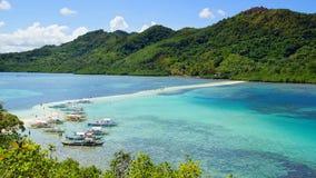 Schlangen-Insel. EL Nido, Philippinen stockbild