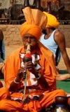 Schlangenbeschwörer von Haryana, Indien stockbilder