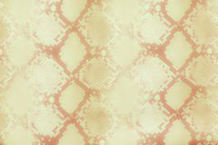 Schlangenhaut-Musterbeschaffenheit, die nahtloses braunes Gold wiederholt Vektor Beschaffenheitsschlange Moderner Druck Mode und  lizenzfreie abbildung