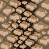 Schlangenhaut-Musterbeschaffenheitswiederholen nahtlos Modischer Modedruck, Hintergrund Grafische Verzierung lizenzfreie abbildung