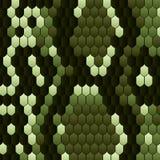 Schlangenhautmuster für Druckentwurf Vektortierdruck grüne Schlange, Kobra, Haut, Muster, snakeskin, Pythonschlange trendy lizenzfreie abbildung