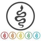 Schlangenikonensatz - Vektor stock abbildung