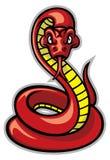 Schlangenmaskottchen lizenzfreie abbildung