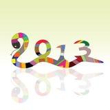 Schlangenzeichen für 2013-jähriges lizenzfreie abbildung