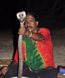 Schlangezeigen in Sri Lanka Lizenzfreies Stockbild