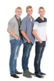Schlanke blonde achtzehn Jahre der jungen Männer Stockbilder