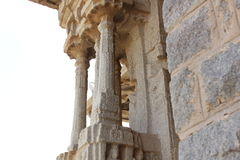 Schlanke Säule Tempels Hampi Vittala musikalischen mantap Säule der Gruppensäule Stockbild