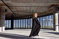 Schlankes athletisches der schönen sexy blonden Konstitution der jungen Frau Lizenzfreies Stockfoto