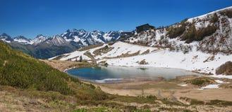Schlappold alpino del lago nelle alpi di allgau Immagini Stock