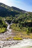 Schlatenbach waterfall Royalty Free Stock Image