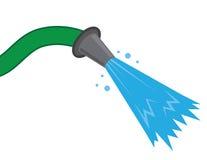 Schlauch-Wasser-Spray vektor abbildung
