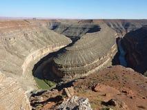 Schlaufen von Goosenecks, Utah Lizenzfreie Stockbilder