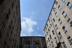 Schlechte deprimierende Häuser Stockbild