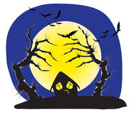 Schlechte Halloween-Bäume Stockfotos