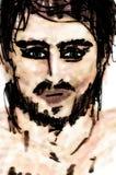 Schlechte Nachrichten-Porträt eines Mannes vektor abbildung