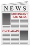 Schlechte Nachrichten wieder Lizenzfreies Stockbild
