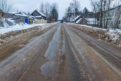 Schlechte Straße wird nicht in Zeit geklärt Lizenzfreie Stockbilder