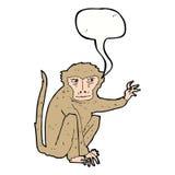 schlechter Affe der Karikatur mit Spracheblase Stockfotografie