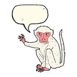 schlechter Affe der Karikatur mit Spracheblase Lizenzfreie Stockbilder