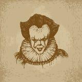 Schlechter Clown Illustration Stockfotos
