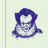 Schlechter Clown Illustration lizenzfreie abbildung